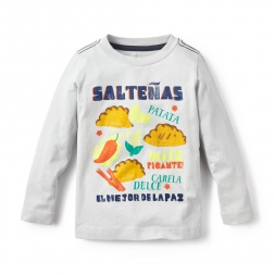 Saltenas Graphic Tee Shirt for Little Boys | Tea Collection