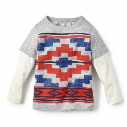 Long-Sleeve Grande Geo Graphic Tee for Boys | Tea Collection