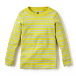 Long-Sleeve So-Cool Stripes Purity Tee for Little Boys | Tea Collection