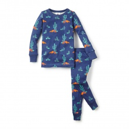 Blue Armadillo Pajamas for Little Boys | Tea Collection
