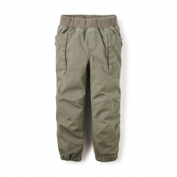 Green Cargo Joggers for Little Boys | Tea Collection