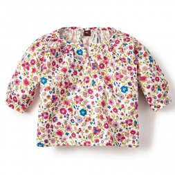 Floral Mercado Rodriguez Henley Top for Girls | Tea Collection