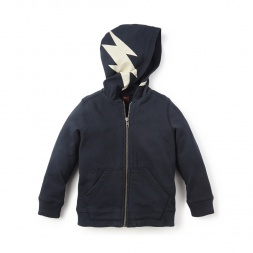 Black Rayo Graphic Zip Hoodie for Little Boys | Tea Collection