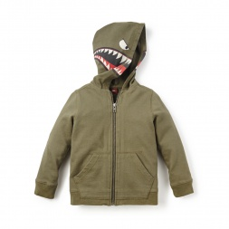 Tiburon Graphic Zip Hoodie for Little Boys | Tea Collection