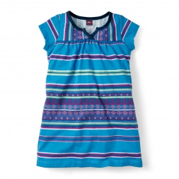 Little Girls Frasada Split Neck Dress | Tea Collection
