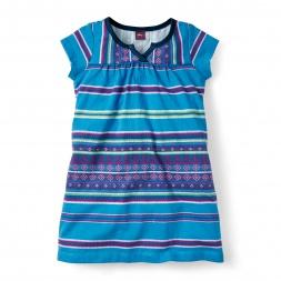 Little Girls Frasada Split Neck Dress | Tea Collection