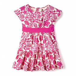 Floral Potosi Banded Dress for Girls | Tea Collection