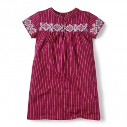 Short-Sleeve El Alto Embroidered Dress for Girls | Tea Collection