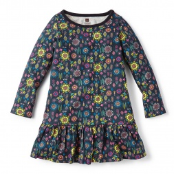 Floral Folklorico Ruffled Dress for Little Girls | Tea Collection