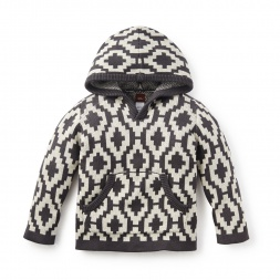Gaucho Geo Hooded Sweater | Tea Collection
