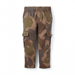 Camo French Terry Cargo Pants | Tea Collection