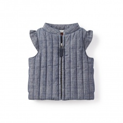 Chambray Baby Vest | Tea Collection