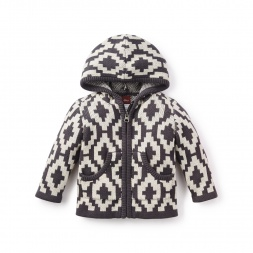 Little Gaucho Geo Hooded Cardigan | Tea Collection