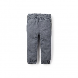 Herringbone French Terry Baby Pants | Tea Collection