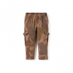 Camo French Terry Baby Cargos | Tea Collection