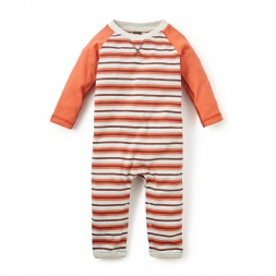Multistripe Raglan Romper | Tea Collection