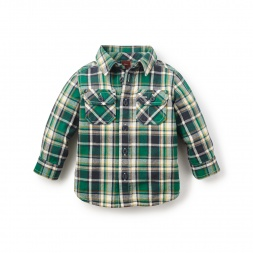 Cerro Galán Flannel Baby Shirt | Tea Collection