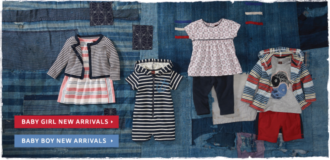 Shop Tea Collection's New Arrivals for Baby Girl and Baby Boy.