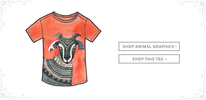 Shop Tea Collection's Animal Graphic Tees inspired by India.
