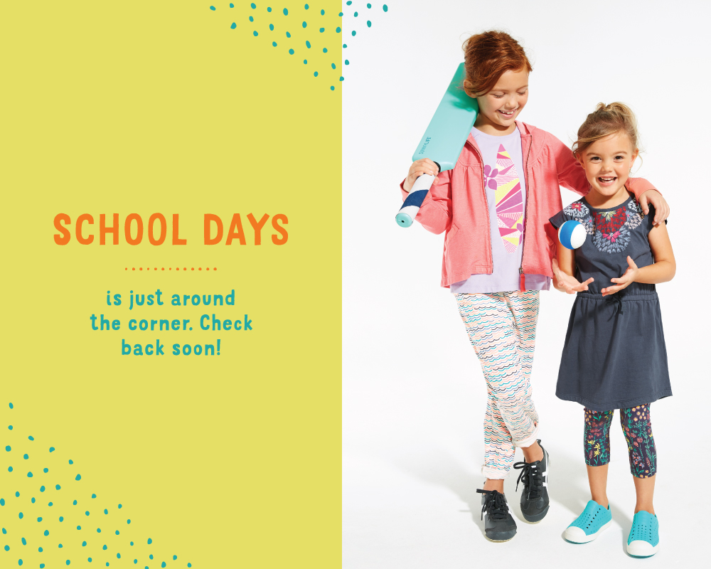 Tea Collection School Days Charity Landing Page