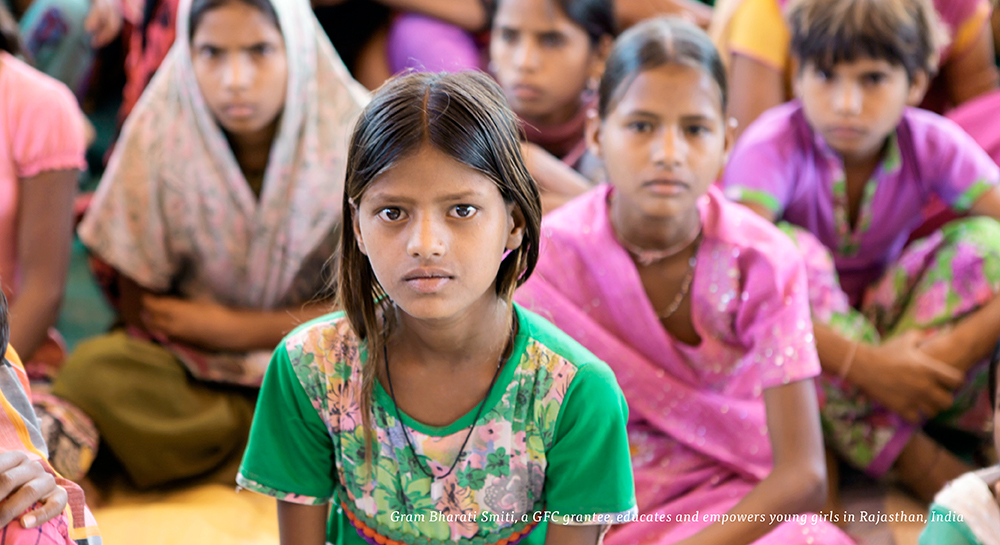 Gram Bharati Smiti, a GFC grantee, educates and empowers young girls in Rajasthan, India
