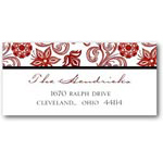 address labels gift tags wintry flurry
