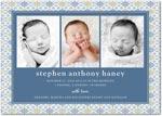 boy photo birth annoucement geometric dream