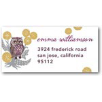 address labels gift tags patterned owl