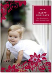 flat christmas photo cards chic overlay