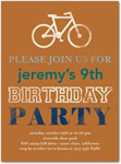 birthday party invitations bicycle bash