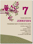 birthday party invitations cute hoot