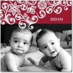 flat christmas photo cards fresh flurry