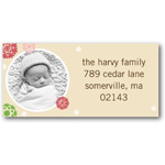 address labels gift tags patterned snowflakes