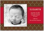 girl photo birth annoucement diamond tapestry