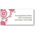address labels gift tags brightly blooming