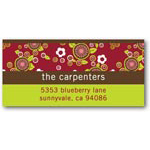 address labels gift tags floral patterns