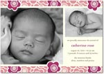 girl photo birth annoucement block blooms
