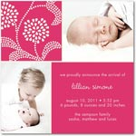girl photo birth annoucement covasna floral