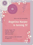 birthday party invitations folk flowers