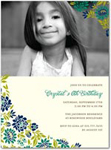 birthday party invitations quaint floral
