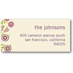 address labels gift tags abundant blooms