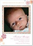 girl photo birth annoucement sakura frame