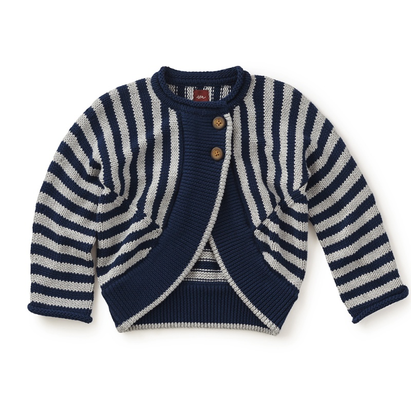 Girls Striped Cardigan