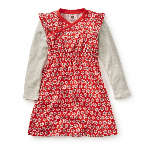 Girls Double Decker Wrap Dress