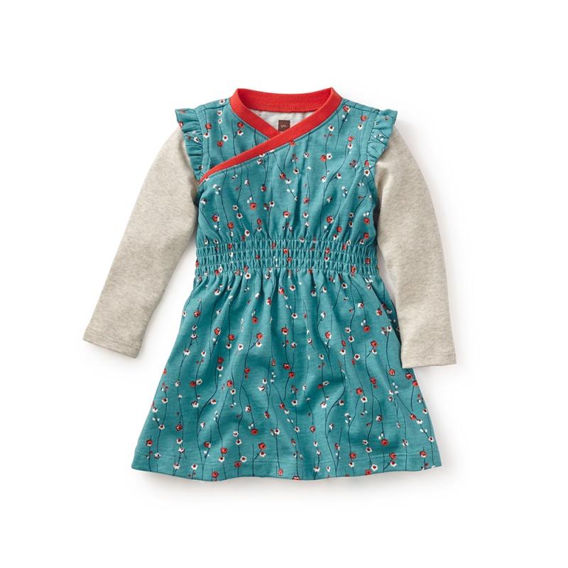 Takara Wrap Neck Baby Dress