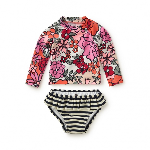 Fiorella Stripe Baby Swim Set