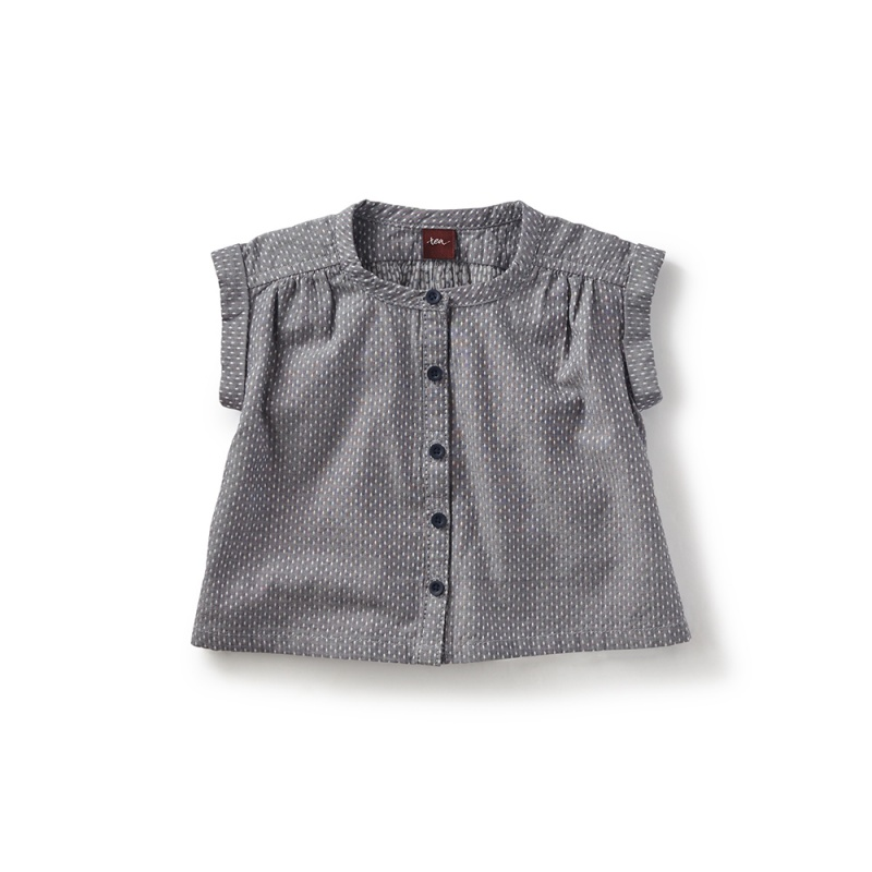 Chambray Button-Front Baby Top