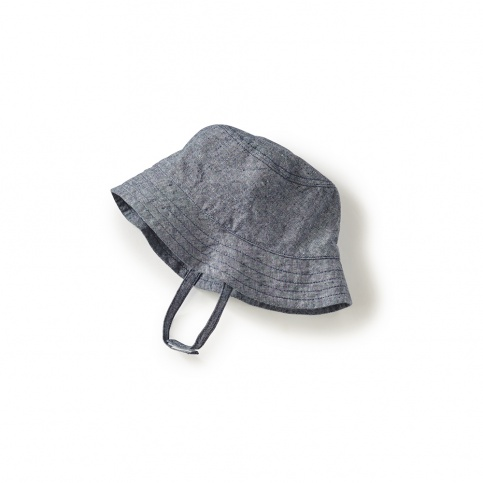 Chambray Strap Bucket Hat