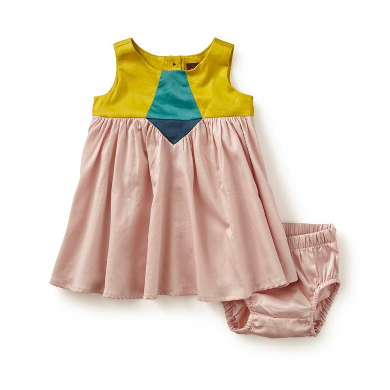 Aurora Colorblock Baby Dress