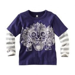 Tea Collection Barong Batik Layered Tee